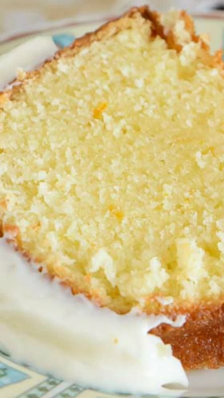 Orange Pound Cake ~ It has a perfectly light orange flavor, it's wonderfully moist, and it's topped with a heavenly orange cream cheese glaze.
