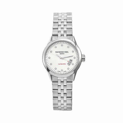 Raymond Weil Women`s 2430-ST-97081 Freelancer Stainless Steel Silvertone Dial Watch - List price: $1,995.00 Price: $660.00