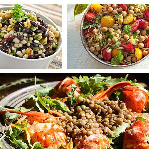 Οι σαλάτες με όσπρια αποτελούν τον πιο γευστικό τρόπο για να μην αποκλείουμε τη θρεπτική αυτή κατηγορία από τα καλοκαιρινά μενού. Δες 3 μη βαρετές συνταγές!