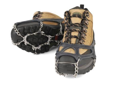 Chainsen M 9.06-10.23inch Snow Shoe Crampons Chain Spike Ice Climbing Dark Red