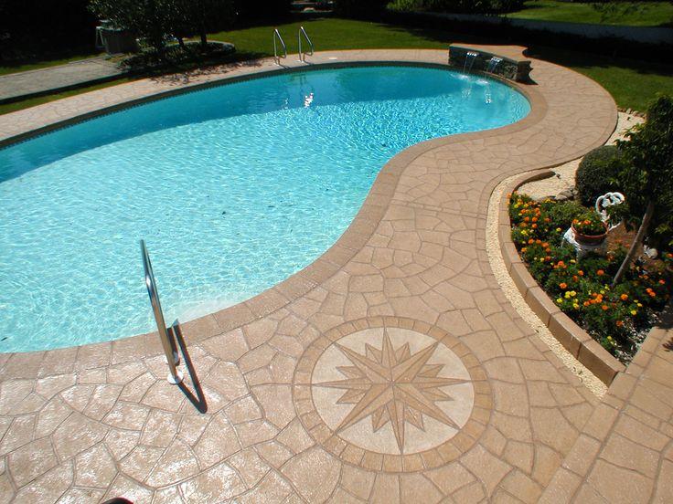 Love The Sun Dial Swimming Pool Decks Pool Decks