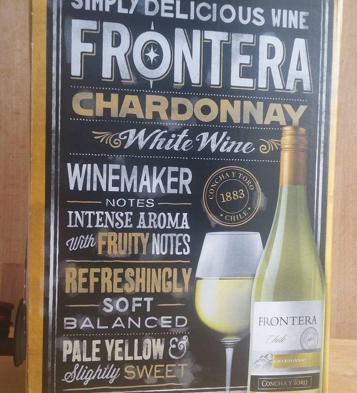 Kivan pirteä Chardonnay. #viini#wines#winelover#winegeek#instawine#winetime#wein#vin#winepic#wine#wineporn herkkusuu #lasissa#frontera #Herkkusuunlautasella @conchaytoro