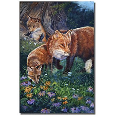 Printed Canvas Art Animal Animal Fox Den by Cory Carlson with Stretched Frame – GBP £ 23.10