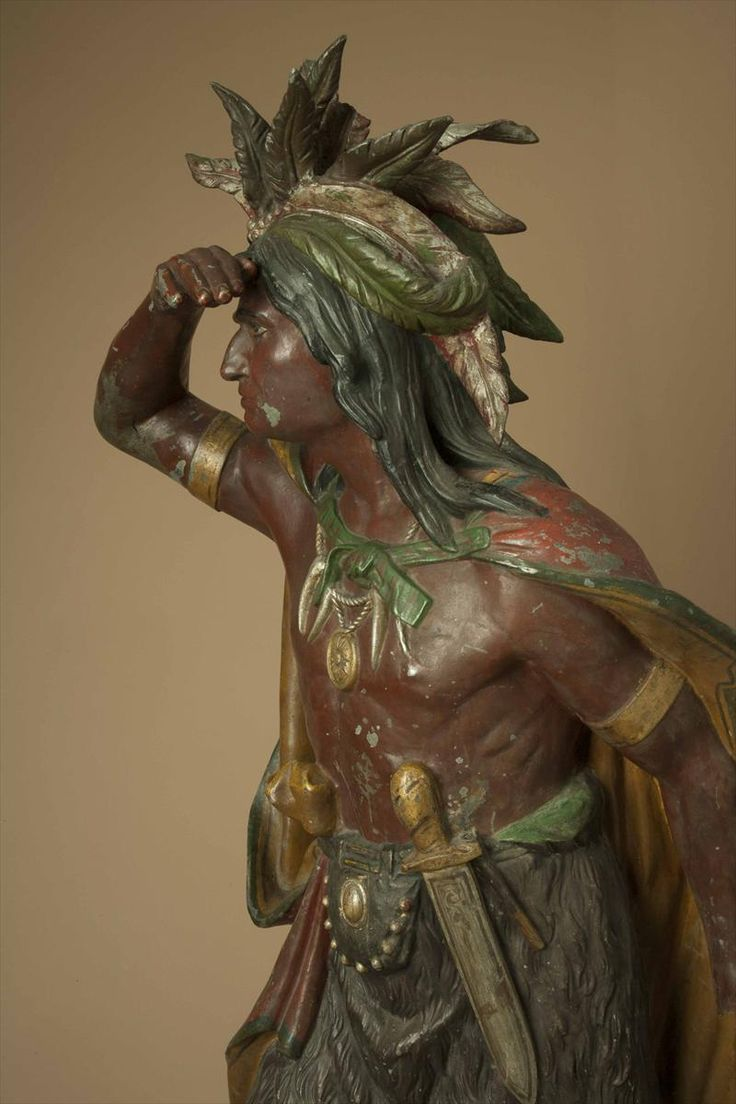 iGavel Auctions: William Demuth (1835-1911) Captain Jack Cigar Store Indian; W6GMD
