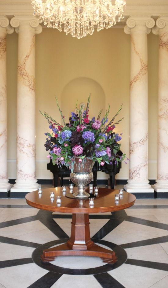 Botleys Mansion Entrance - Silver Urn Arrangement