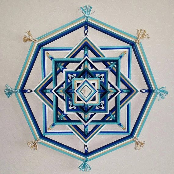 Mandala Ojo de Dios Wisdom by BeHappyMandalaShop on Etsy