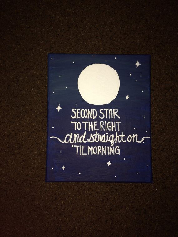Peter Pan Quote Canvas from the Custom Canvas Shop!