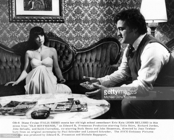 News Photo : Talia Shire sits with John Belushi in a scene...