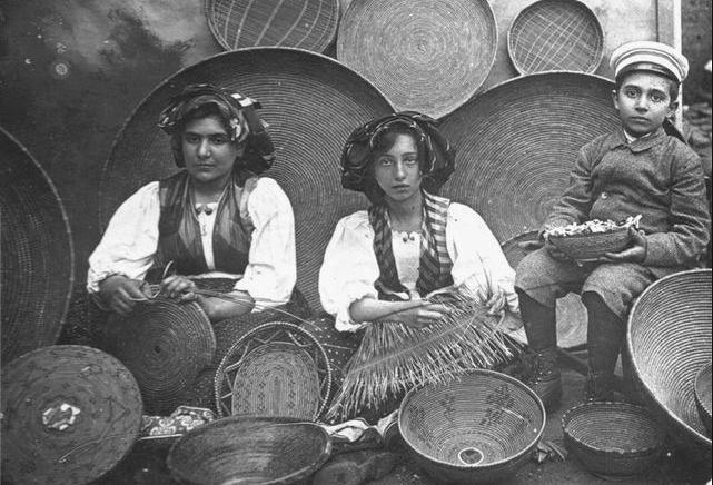 Sardinia ,Baskets weaving.