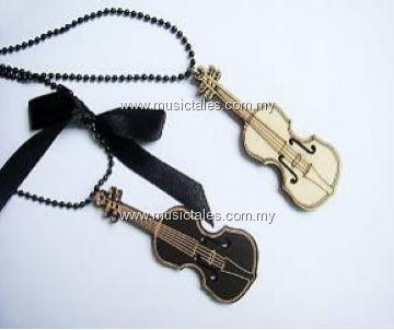 000180-Vintage Violin Long Necklace