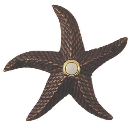 Beautiful Waterwood Hardware Decorative Starfish Doorbell  Oil Rubbed Bronze From  Cabinet Knobs And More