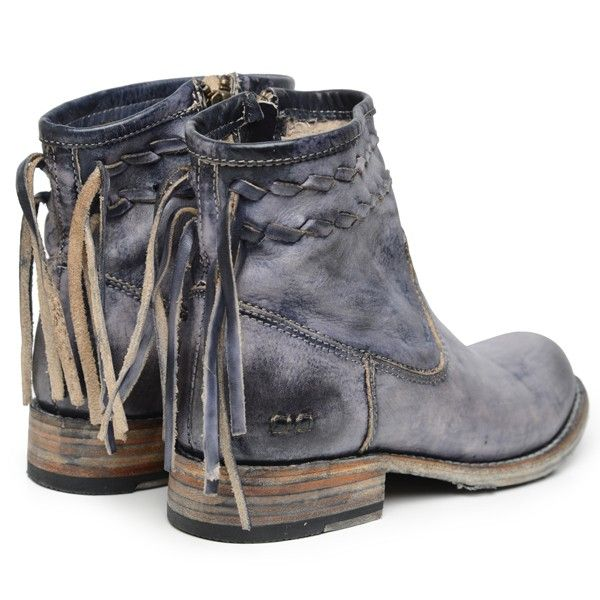 Appropriately named...the Craven boot by Bedstu will have you at first sight. This gorgeous color that has a blue hue boasts black, gray and blue tones on the leather. Inside zipper for easy on and of