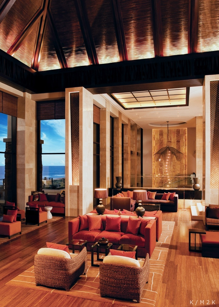Interior View Of Beautiful Luxury Lounge And Dining Room ...