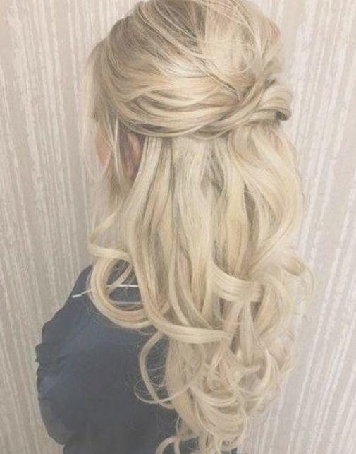 Trendy Wedding Hairstyles Half Up Half Down With Viel Straight Ideas