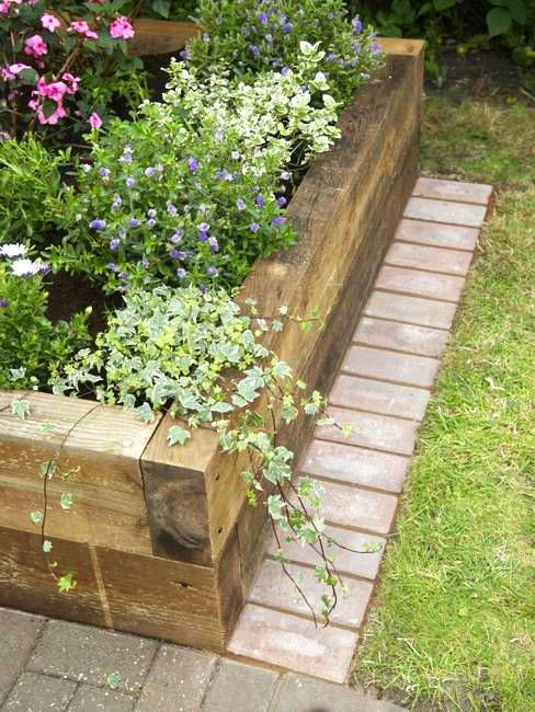 raised bed wall design ideas, yard landscaping