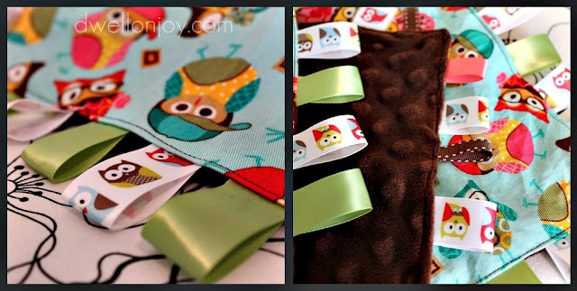 taggies: Owl Taggi, Craftsew Ideas, Gifts Ideas, Baby Gifts, Diy Baby, Baby Blankets, Sewing Ideas, Taggi Blankets, Baby Taggi