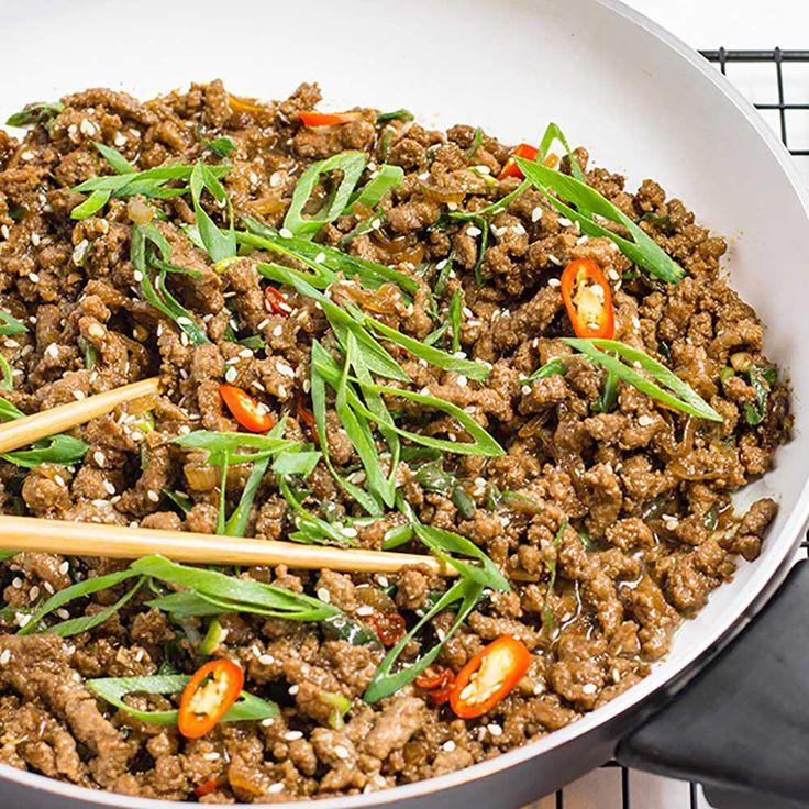 Keto ground beef recipe sticky korean stir fry beef