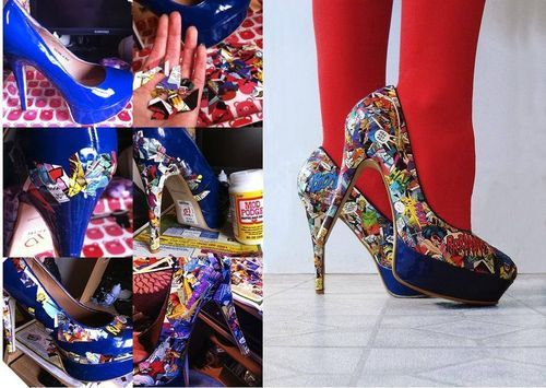 #diy,  comic book heels