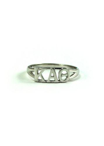 Kappa Alpha Theta Sterling Silver Ring   eBay