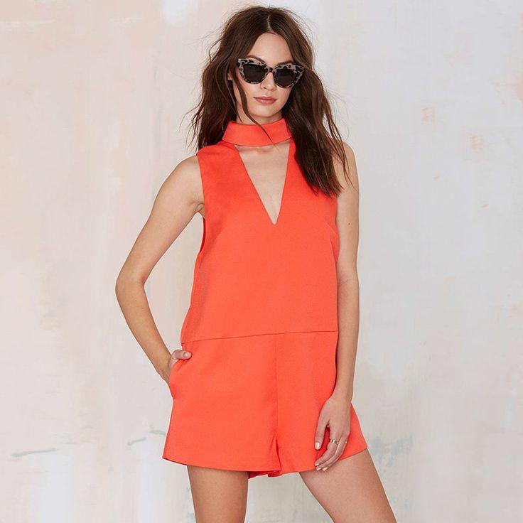 Fashion Hollow Out Loose Pockets Romper LAVELIQ