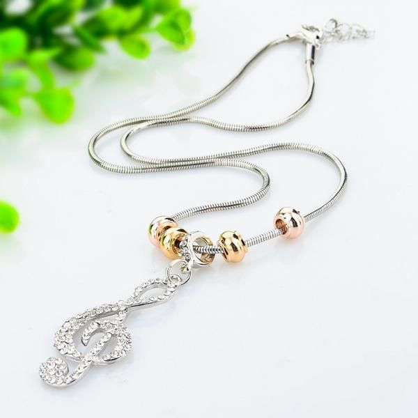 Crystal Musical Pendant | Gold & Silver Plated + Austrian Crystals