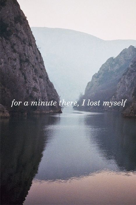 for a minute there, I lost myself...YOSEMITE