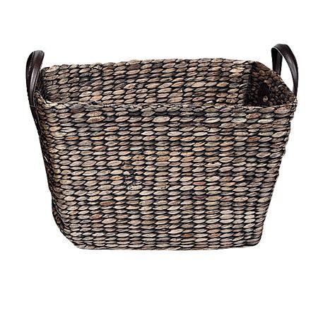 Rush Basket Black Medium 40cm x 27cm x 28cm