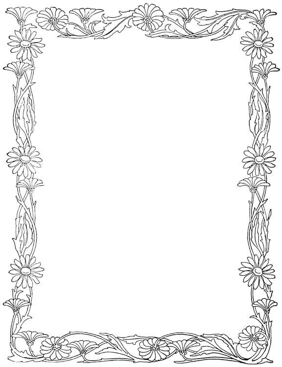 Free Download Letter With Flower Borders   Jos Gandos Coloring ... - ClipArt Best - ClipArt Best