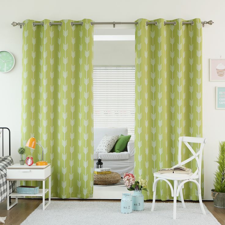 Aurora Home Arrow Room Darkening Blackout Grommet 84-inch Curtain ...
