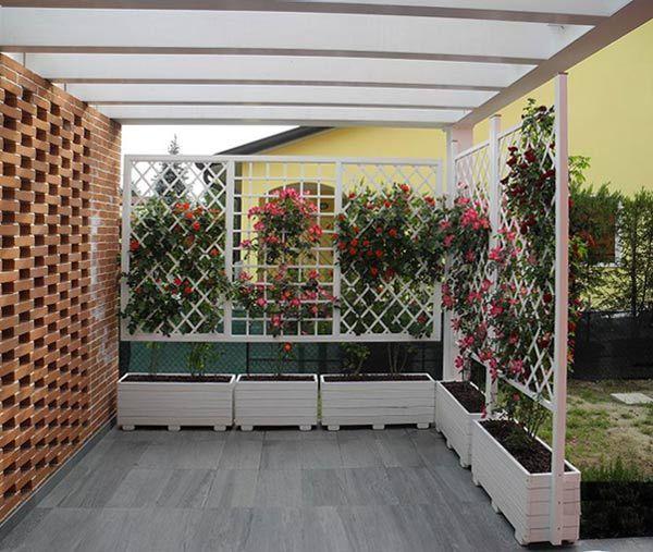 Grigliati legno terrazzo cerca con google gardening for Grigliati terrazzo