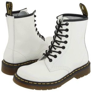 Dr. Martens 1460 (White Smooth) Lace-up Boots