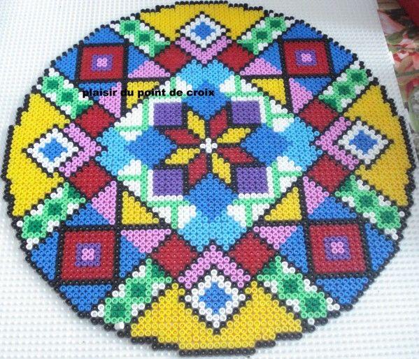 estrella centra de hama beads