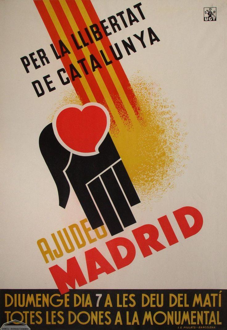 Una pancarta para las madres de Madrid. Les pregunta a ellas a ayudar la parte de Catalunya.