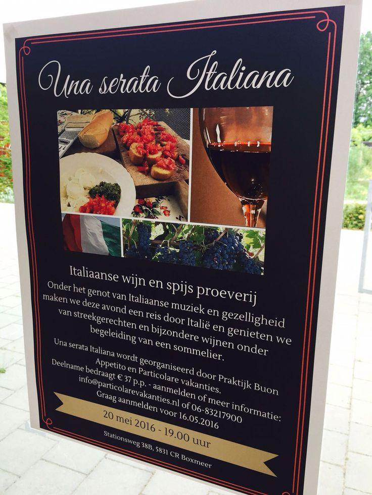 Italiaanse wijn en spijs in Boxmeer!