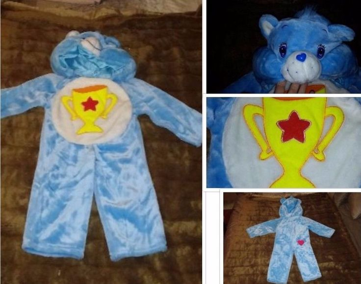 Care Bear Champ with Trophy Costume Hood Warm & Furry Medium 2-4 Years Halloween #ThoseCharactersfromCleveland #CompleteOutfit