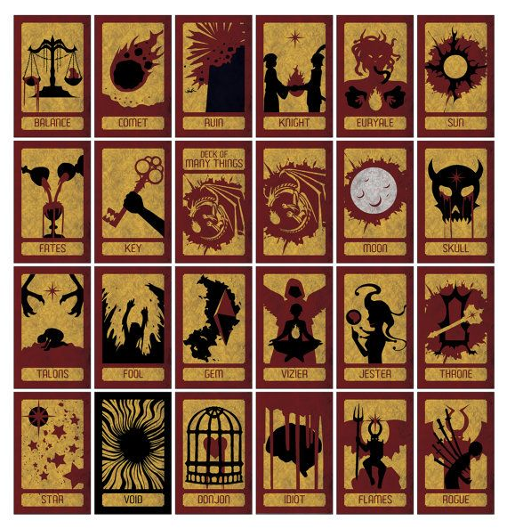 picture regarding Deck of Many Things Printable identified as Deck of Countless Aspects [Dungeons Dragons Increase-upon] Buy me