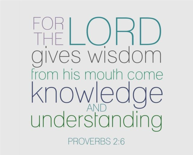 """For the LORD gives wisdom, from his mouth come knowledge and understanding."" Proverbs 2:6 #Faith"