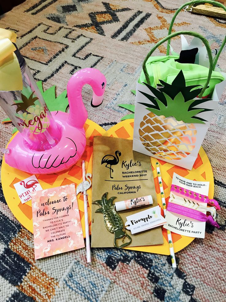 Let's Flamingle While She's Still Single and Party Like a Pineapple Bachelorette Party Favors in Palm Springs! Check out the best place to celebrate your bachelorette party or birthday party or girls night out in San Francisco.