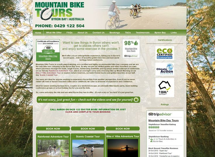 Mountain Bike Tours, Byron Bay runs day tours to the Byron Bay hinterland and coastal areas. They wanted a website that would reflect the natural image of their destinations.…
