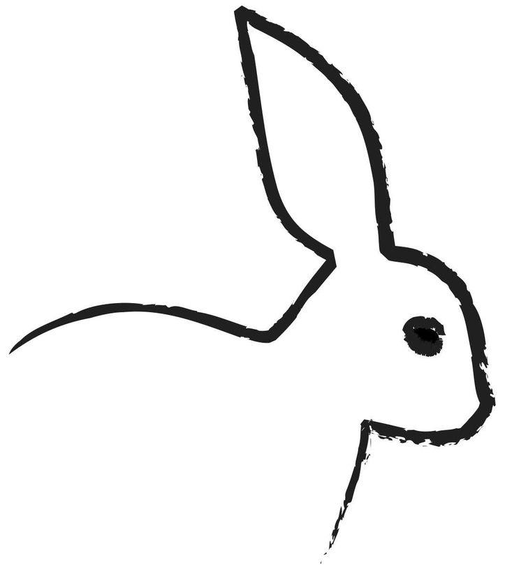 white rabbit silhouette tattoo - Google Search