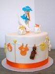 torta cicogna e panni stesi... FA VO LO SA! (Bella's Bakery)