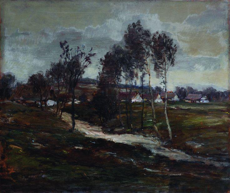 OTAKAR LEBEDA (1877 – 1901) Cesta do vsi (kol. 1900)