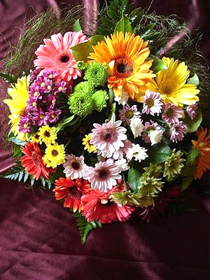 Buchet crizanteme si gerbera