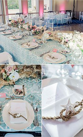 Ideas And Decorations For Little Mermaid Themed Wedding Ceremony Reception