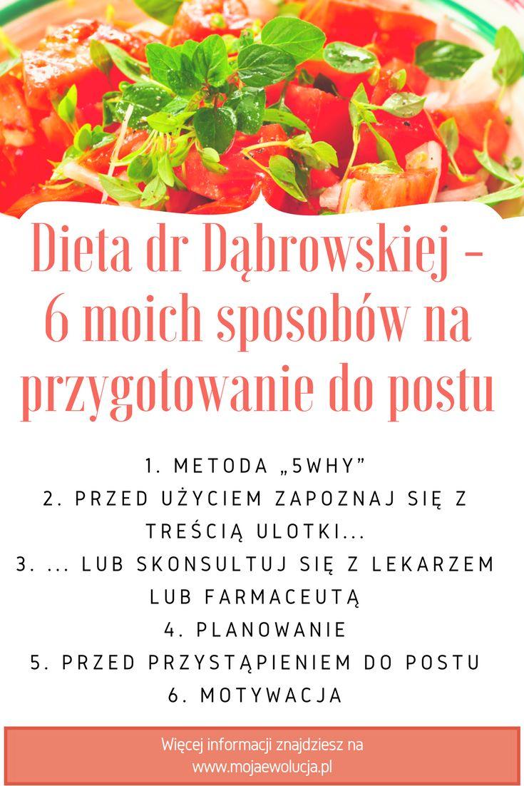 Dieta dr Dąbrowskiej - jeśli chcesz sie dowiedzieć, jakie są moje sposoby na przygotowanie postu, zajrzyj na strone www.mojaewolucja.pl