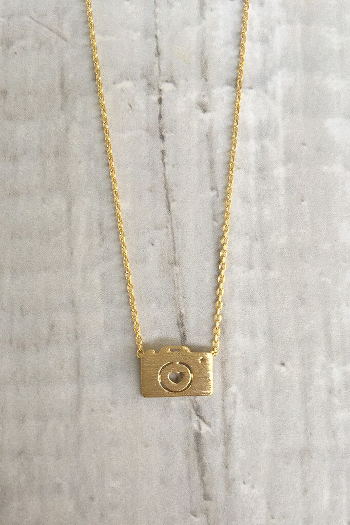 Go full on photography capturing your life's memories by wearing this cute camera dainty necklace. It is so perfect for vaca days where you have the camera with you at all times. This cute and simple