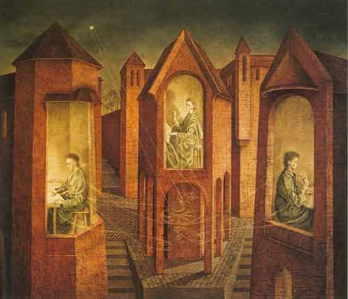 Remedios Varo,  Three Destinies Fine Art Reproduction Oil Painting