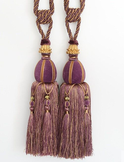 ONE  Heavy LARGE 13 Luxury Tassel Curtain Tieback