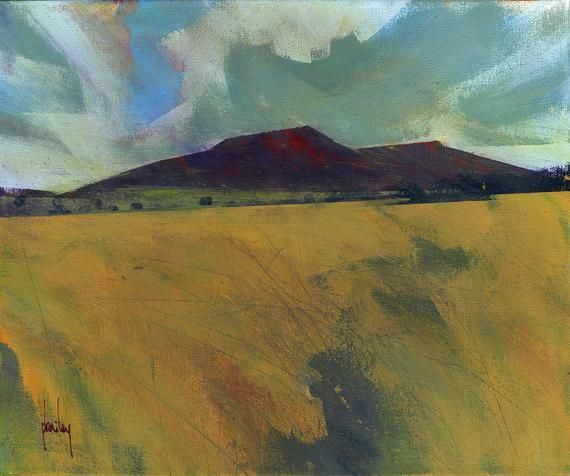Abstract Landscape Mountain Painting By Paul Bailey Black Mountains Summer Abstract Landscape Landscape Mountain Paintings