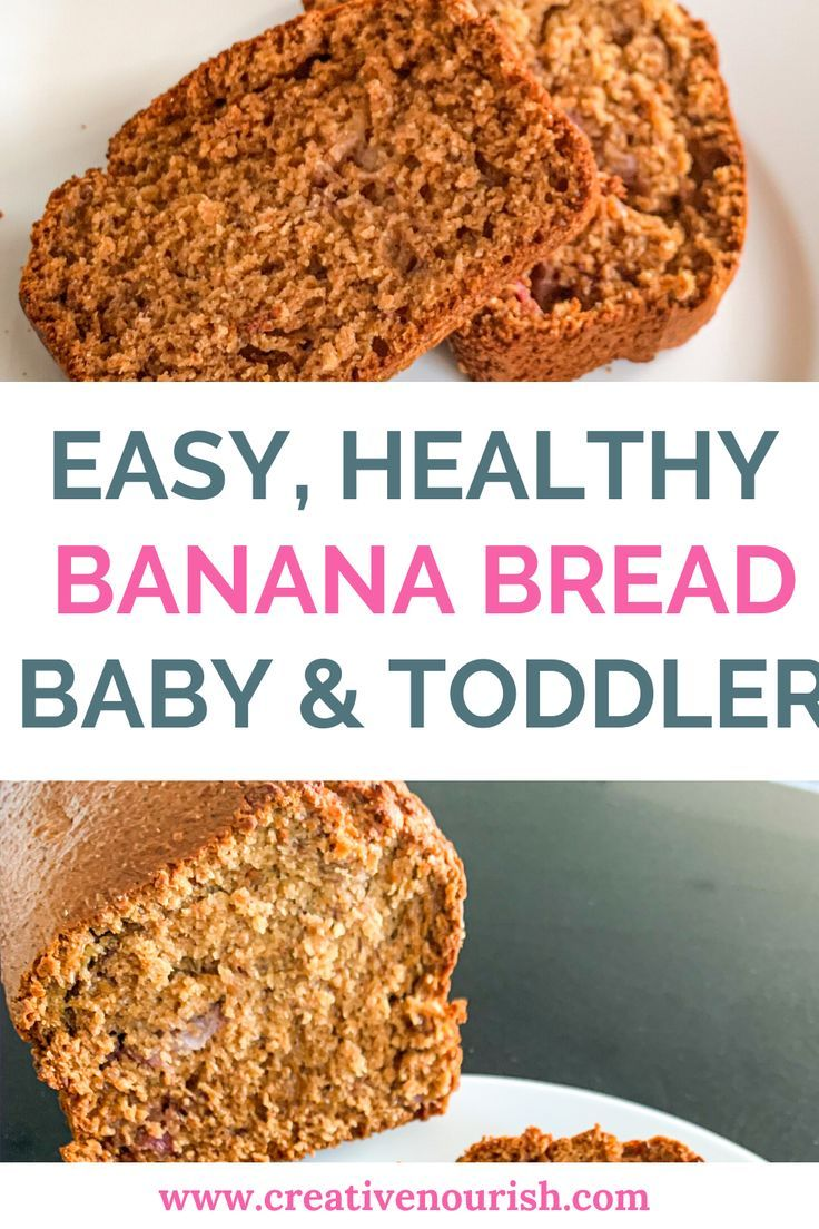 Banana Bread Recipe Healthy Desserts For Kids Homemade Baby Snacks Healthy Meals For Kids